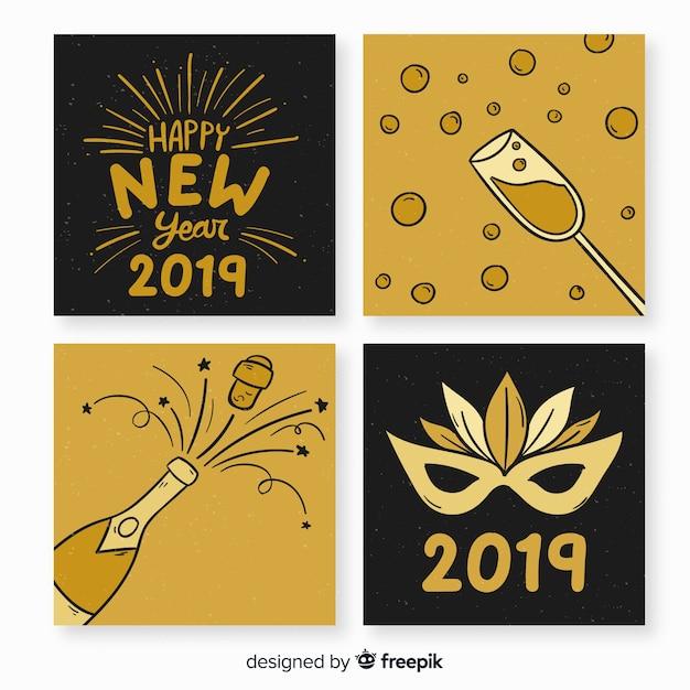 Nieuwjaarswens 2019 Gratis Vector