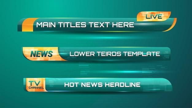 Nieuws grafische banners Premium Vector