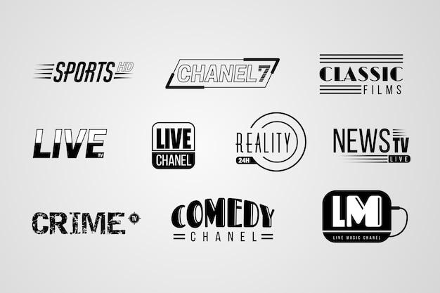 Nieuws logo collectie Gratis Vector