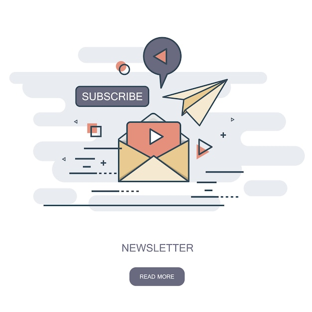 Nieuwsbrief concept Premium Vector