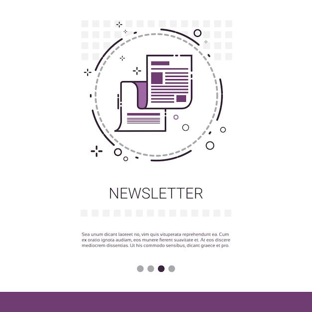 Nieuwsbrief toepassing krant web banner Premium Vector