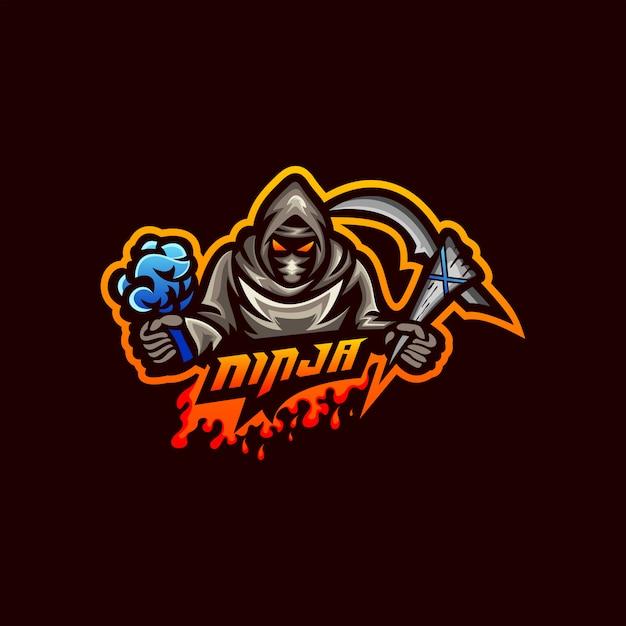 Ninja logo vector Premium Vector