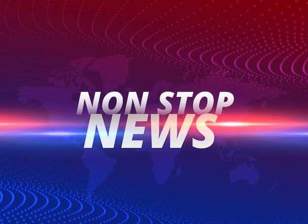 Non-stop nieuws concept achtergrond Gratis Vector