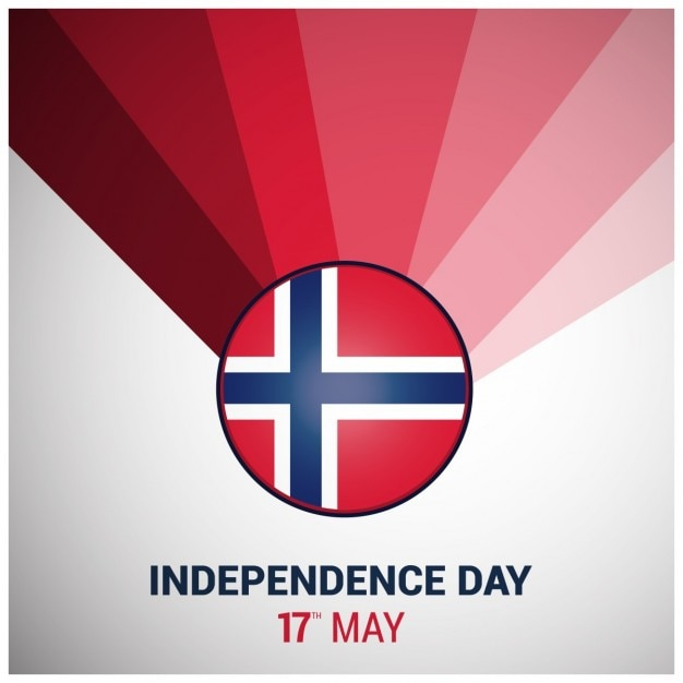 Noorwegen achtergrond van de dag Gratis Vector