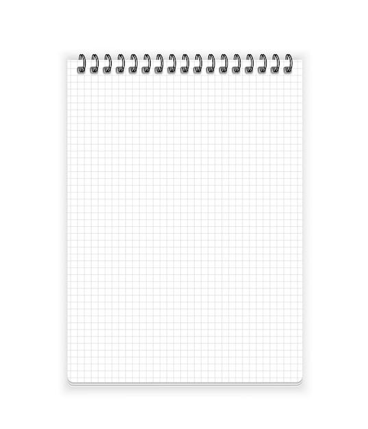 Notitieboek papier Premium Vector