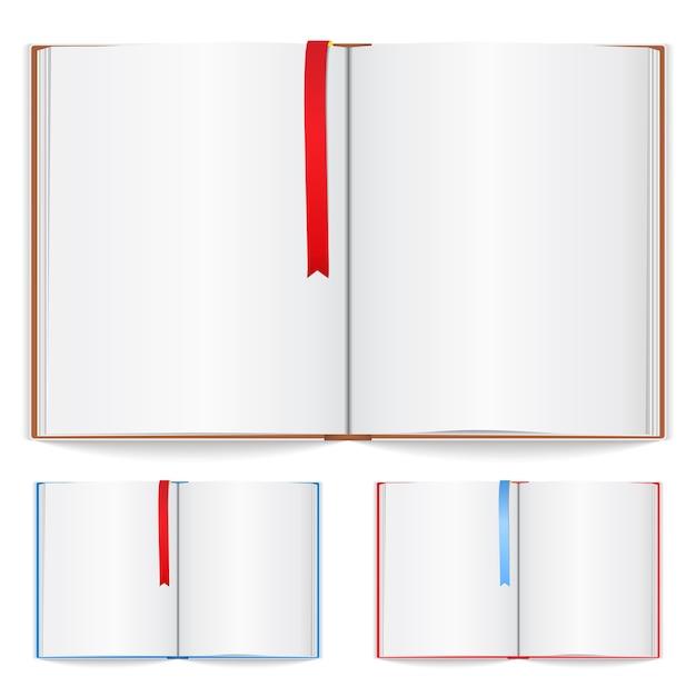 Notitieboekje met bladwijzerillustratie Premium Vector