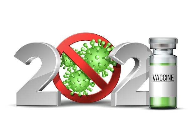Nummer met coronavirus-epidemie stopteken Premium Vector
