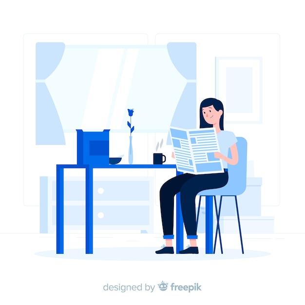 Ochtend essentiële concept illustratie Gratis Vector