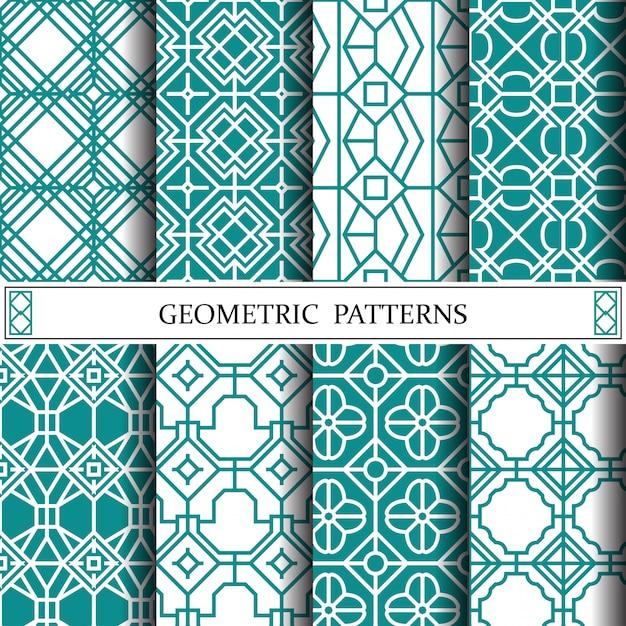 Octagon geometrische vector patroon voor webpagina-achtergrond Premium Vector