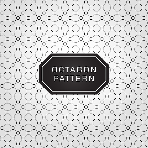 Octagon patroon Premium Vector