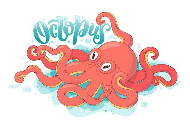 Octopus illustratie Premium Vector