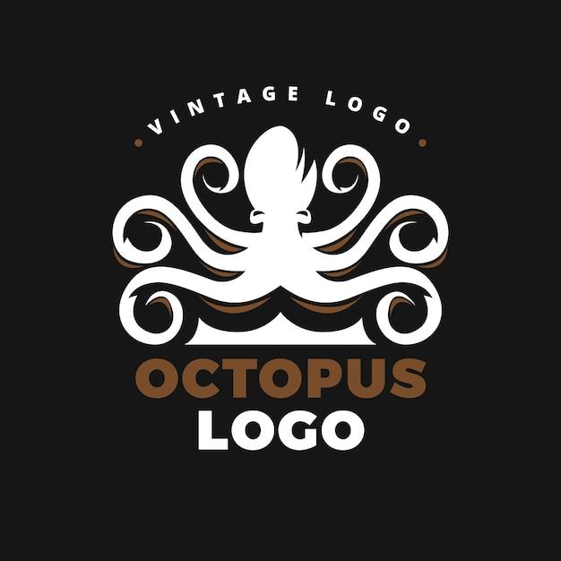 Octopus logo concept Gratis Vector