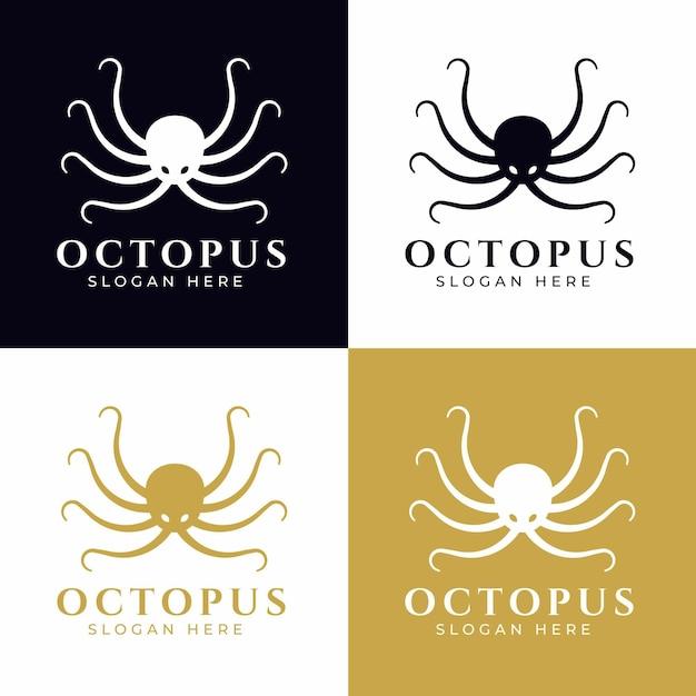 Octopus logo conceptontwerp Premium Vector