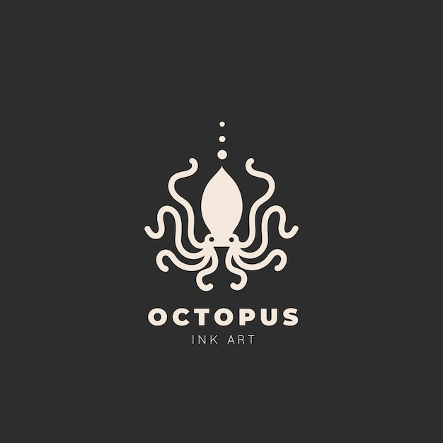 Octopus logo sjabloon Gratis Vector