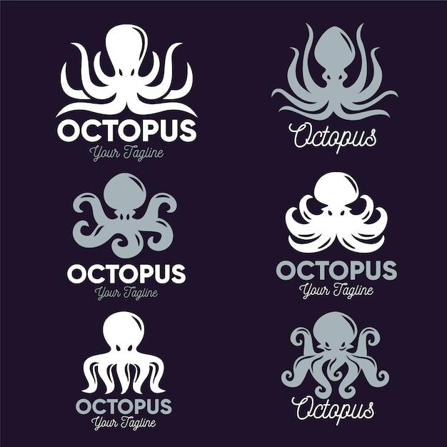 Octopus logo sjabloonontwerp Premium Vector