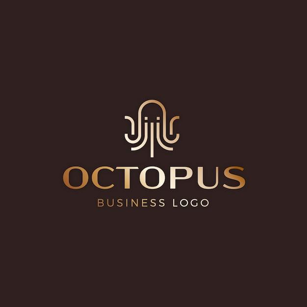 Octopus-logo Premium Vector