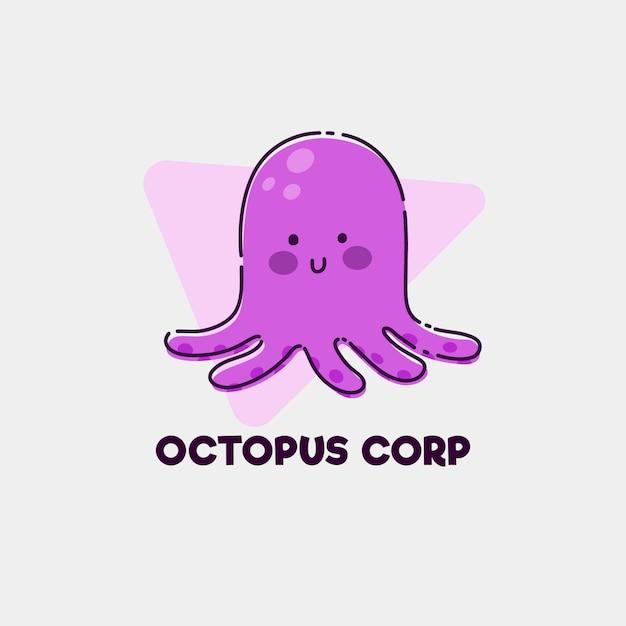 Octopus-logo Gratis Vector
