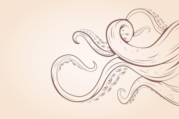 Octopus tentakels thema voor behang Premium Vector