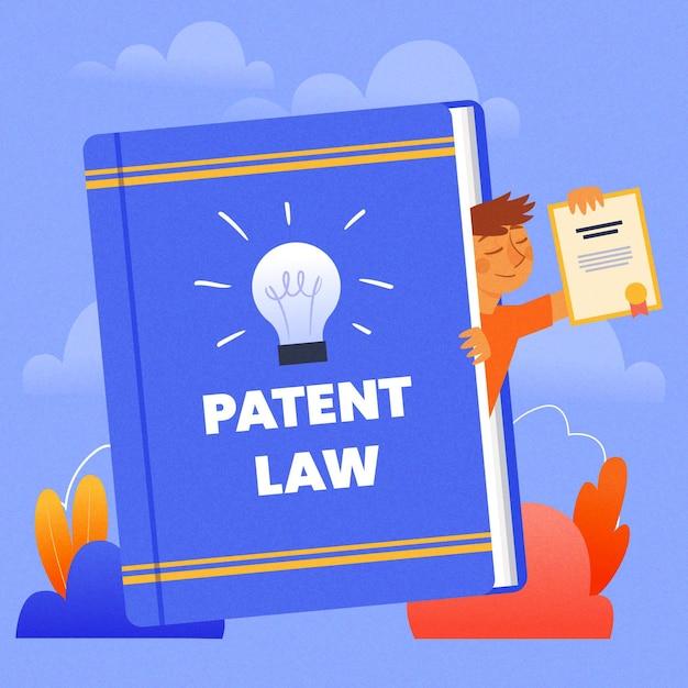Octrooirecht juridische rechten concept Gratis Vector