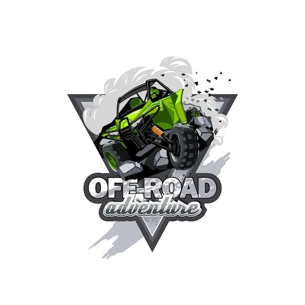 Off-road atv buggy-logo Premium Vector