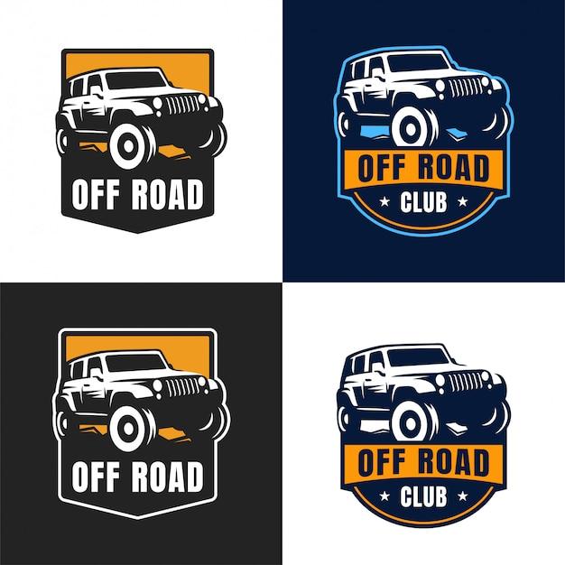 Off-road auto logo badge Premium Vector