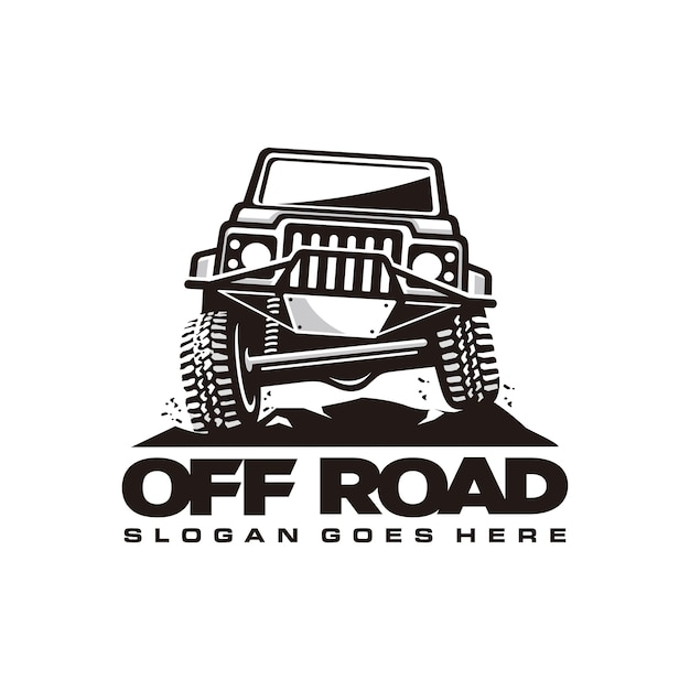Off-road auto logo sjabloon Premium Vector