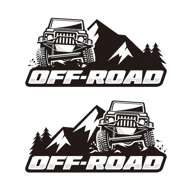 Off-road logosjabloon Premium Vector