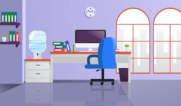 Office - achtergrond voor videoconferenties Premium Vector