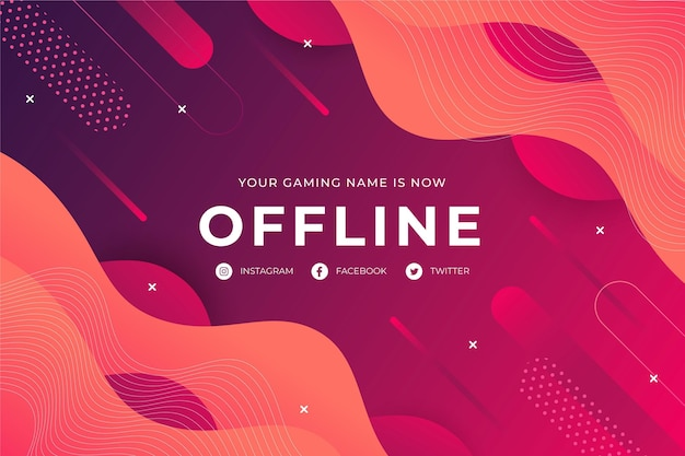 Offline twitch abstracte banner Gratis Vector