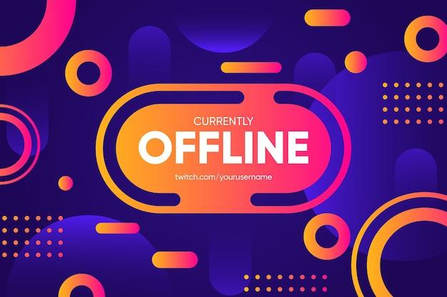 Offline twitch-banner in de stijl van memphis Premium Vector