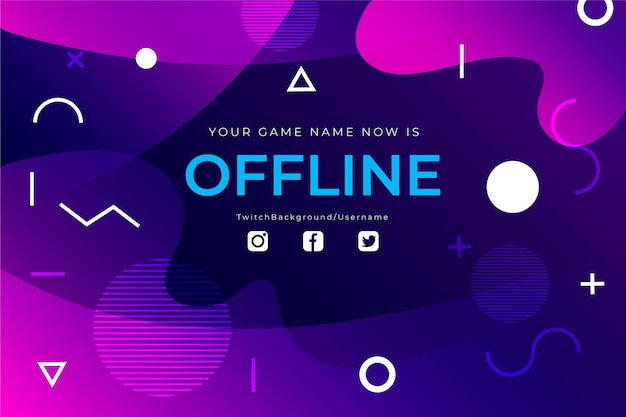 Offline twitch-sjabloon voor spandoek Gratis Vector