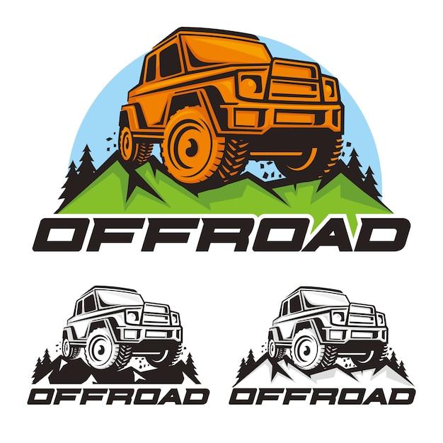 Offroad auto logo vector Premium Vector