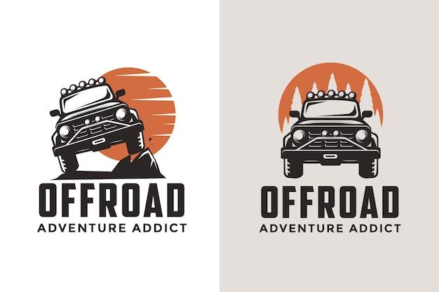Offroad suv auto logo sjabloon pictogramserie Premium Vector