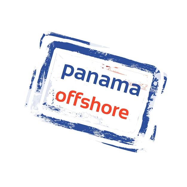 Offshore panama vlag stempel grunge teken Premium Vector