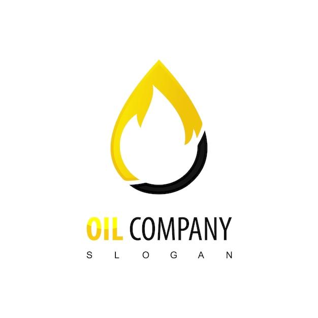 Oil company-logo Premium Vector