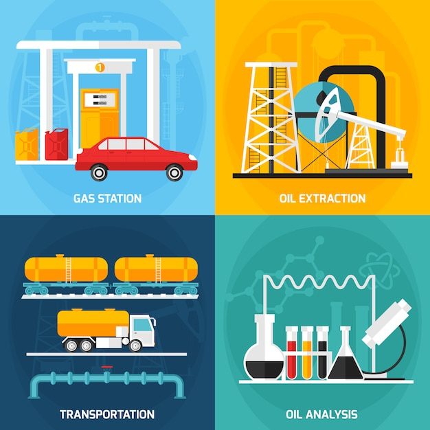 Oil gas industry compositions Gratis Vector