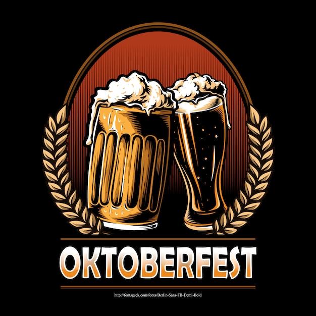 Oktoberfest bier Premium Vector