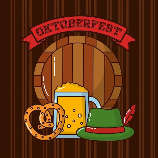Oktoberfest duitsland-viering Gratis Vector