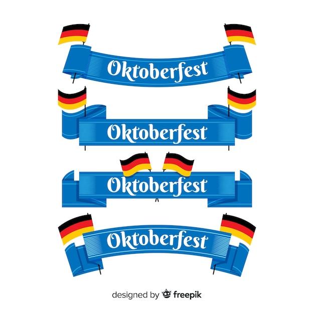 Oktoberfest lintcollectie Gratis Vector