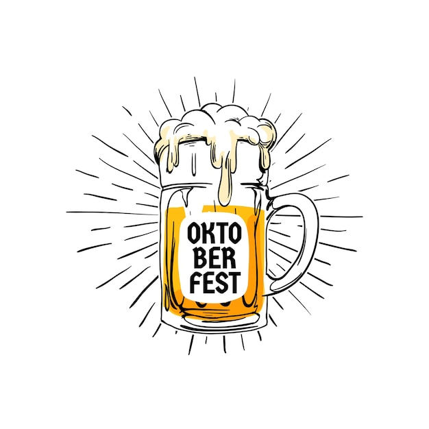 Oktoberfest vintage logobadge Premium Vector