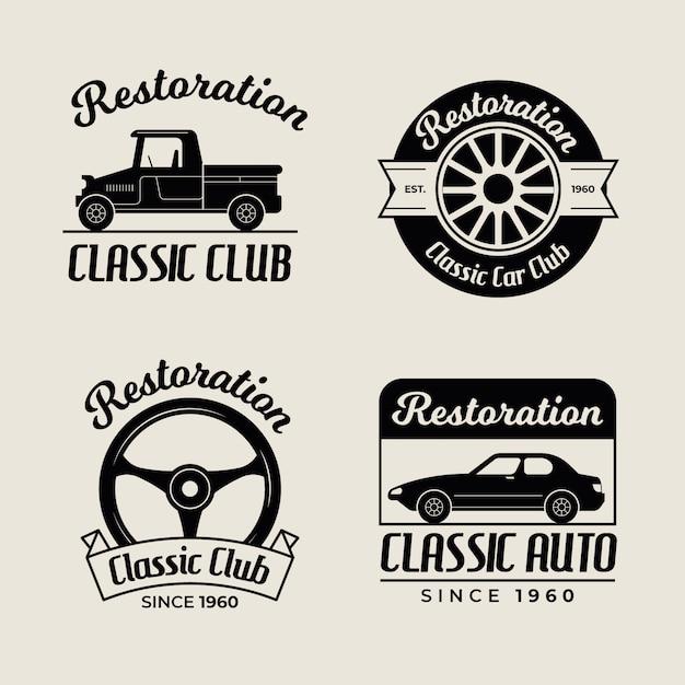 Oldtimer logo collectie Gratis Vector