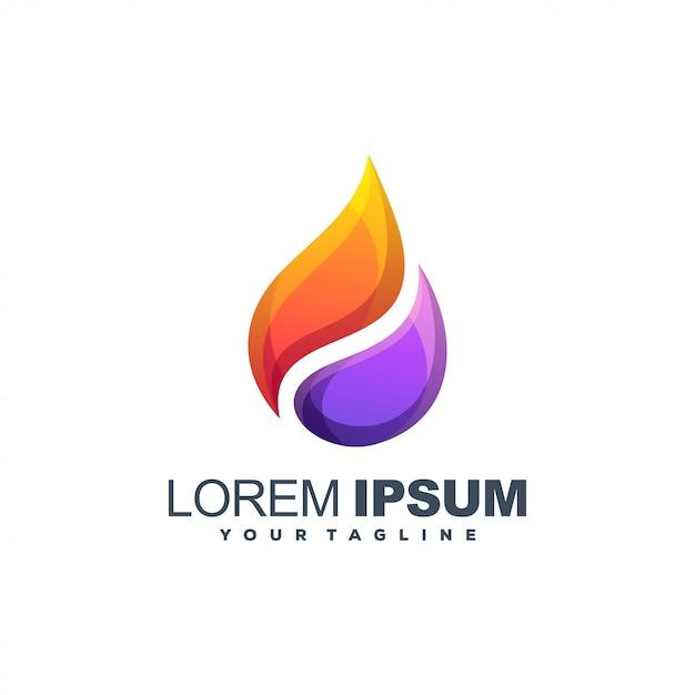 Olie abstract logo Premium Vector