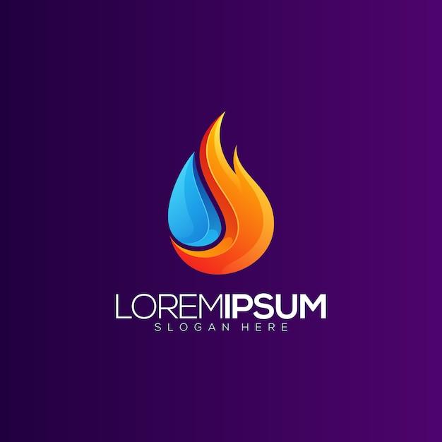 Olie en gas gradiënt logo Premium Vector