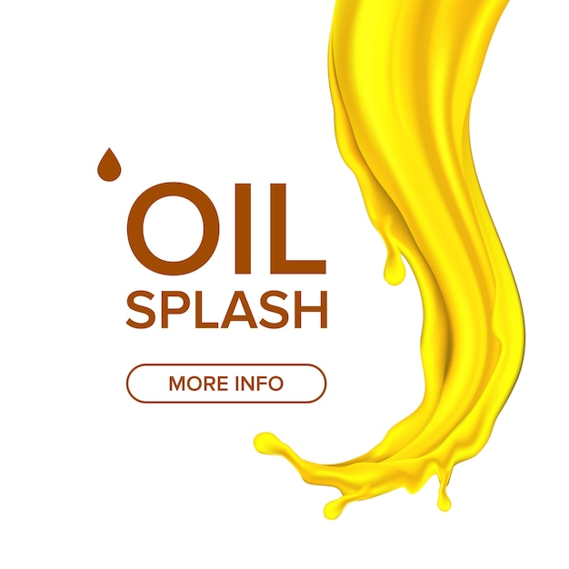 Olie splash Premium Vector
