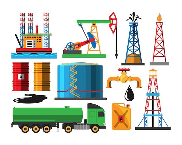 Oliewinning transport Premium Vector