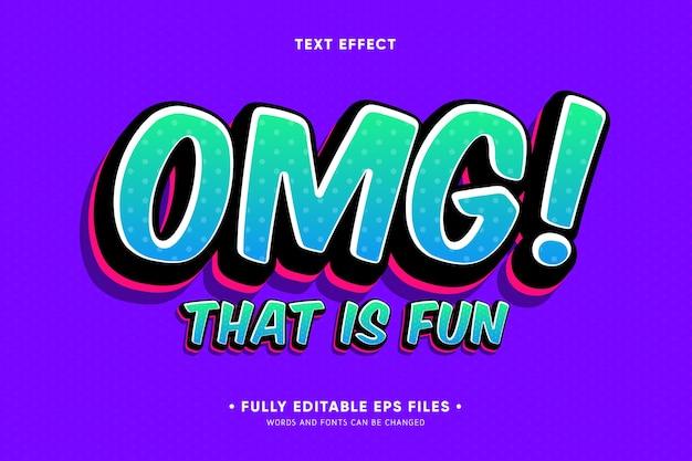 Omg dat is een leuk teksteffect Gratis Vector