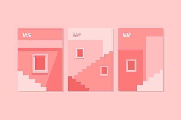 Omvat een minimale architectuursjabloon Gratis Vector
