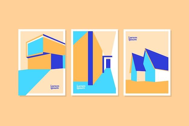 Omvat minimaal architectuurpakket Gratis Vector