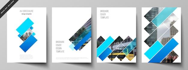 Omvat sjablonen voor brochure Premium Vector