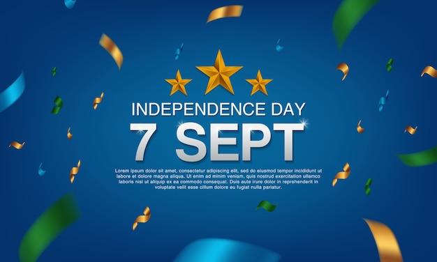 Onafhankelijkheidsdag 7 sept Premium Vector